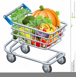 trolley clipart supermarket shopping cart illustration groceries shoppingcart vector raw fresh fruits clip clker healthy shutterstock cliparts rating vegatables