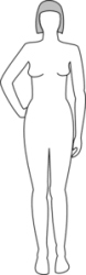 body female clip clipart clker vector cj shared