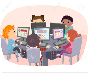 Students Using Computers Clipart Free Images at Clker com vector clip art online royalty free & public domain