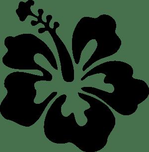 hibiscus simple clip clipart vector clker hi