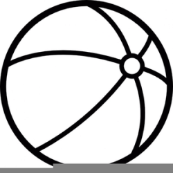 Black And White Beach Ball Clipart Free Images at Clker com vector clip art online royalty free & public domain