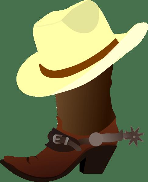 Topi Koboi Vector : koboi, vector, White, Cowboy, Boots, Clker.com, Vector, Online,, Royalty, Public, Domain