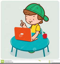 Student Using Computer Clipart Free Images at Clker com vector clip art online royalty free & public domain
