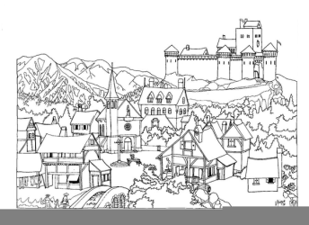 Medieval Village Drawing Free Images at Clker com vector clip art online royalty free & public domain