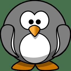 penguin grey clip clipart clker royalty
