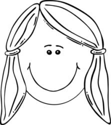 face smiling clip balck clipart shelly clker shared