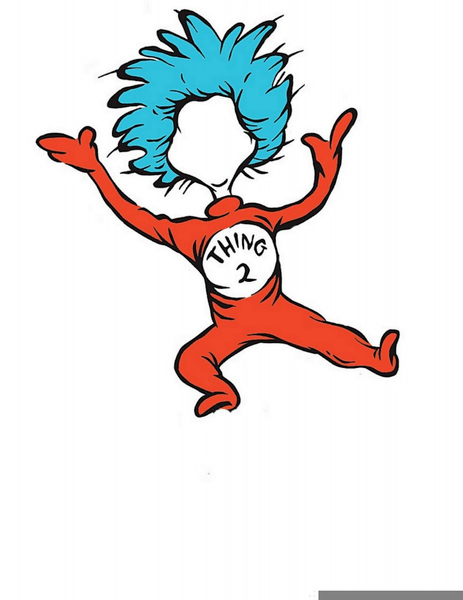 Thing 1 And Thing 2 Clip Art : thing, Seuss, Thing, Clipart, Images, Clker.com, Vector, Online,, Royalty, Public, Domain