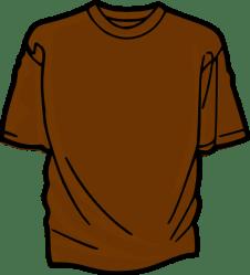 clipart shirt brown clip hash tshirt cliparts shirts tee clipartpanda vector library clker clothes domain christmas