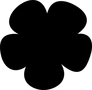flower simple clip silhouette vector clipart cliparts designs clker updegraff lindsey shared getdrawings