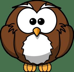 cartoon owl brown clip clker clipart bird owls cute drawings vector