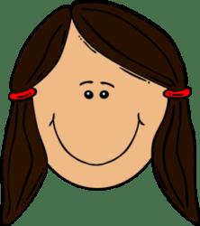 Girl Brown Hair Clip Art at Clker com vector clip art online royalty free & public domain