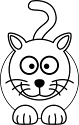 cat clip clipart clker vector royalty