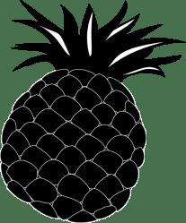 pineapple silhouette clipart clip fruit vector clker domain