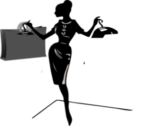 shopper lady clipart edit clip shopping vector cliparts clker shared royalty library domain