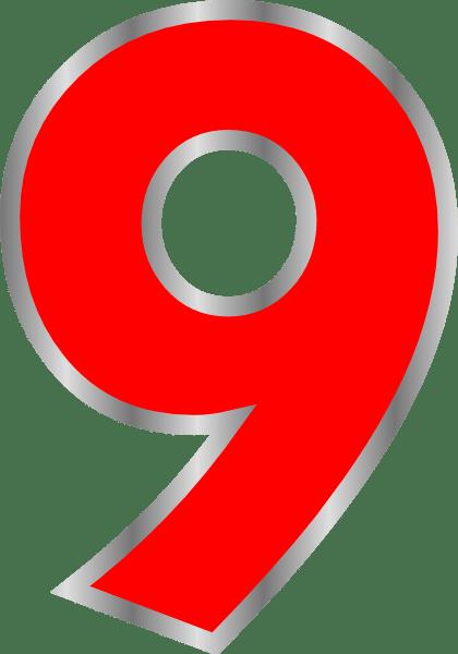 Angka 9 Png : angka, Angka, Warna, Clker.com, Vector, Online,, Royalty, Public, Domain