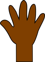 hand brown clipart clip print handprint cliparts transparent clker orange library webstockreview