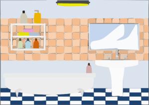 bathroom toilet clipart clip rooms furniture vector bedroom sink clker cliparts hi graphic