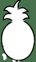 Pineapple Outline Clip Art at Clker com vector clip art online royalty free & public domain