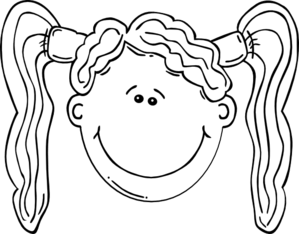 clipart hair outline clip happy face boy vector clker woman tails pig cliparts clipartpanda sad shared bunny presentations websites reports