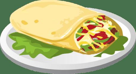 breakfast burrito clip clipart kind mexican food vector taco clker tortilla