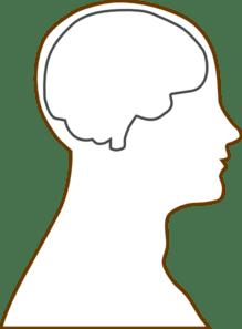 Blank Brain Diagram : blank, brain, diagram, Brain, Blank, Clker.com, Vector, Online,, Royalty, Public, Domain