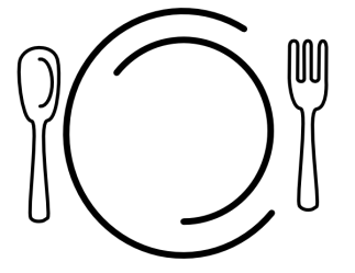 plate dinner clip vector clipart restaurant clker