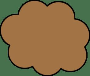 brown cloud cartoon clipart clip cliparts vector clker julie shared library