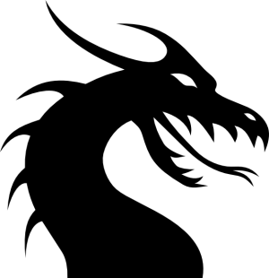 dragon simple head clip dragons clipart vector line clker silhouette digital fire animals
