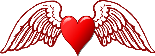 Heart And Wings Clip Art At Clker.com