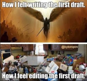 writing first draft meme