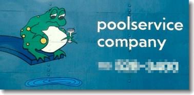 Worst Logo Designs: Poolservice Company