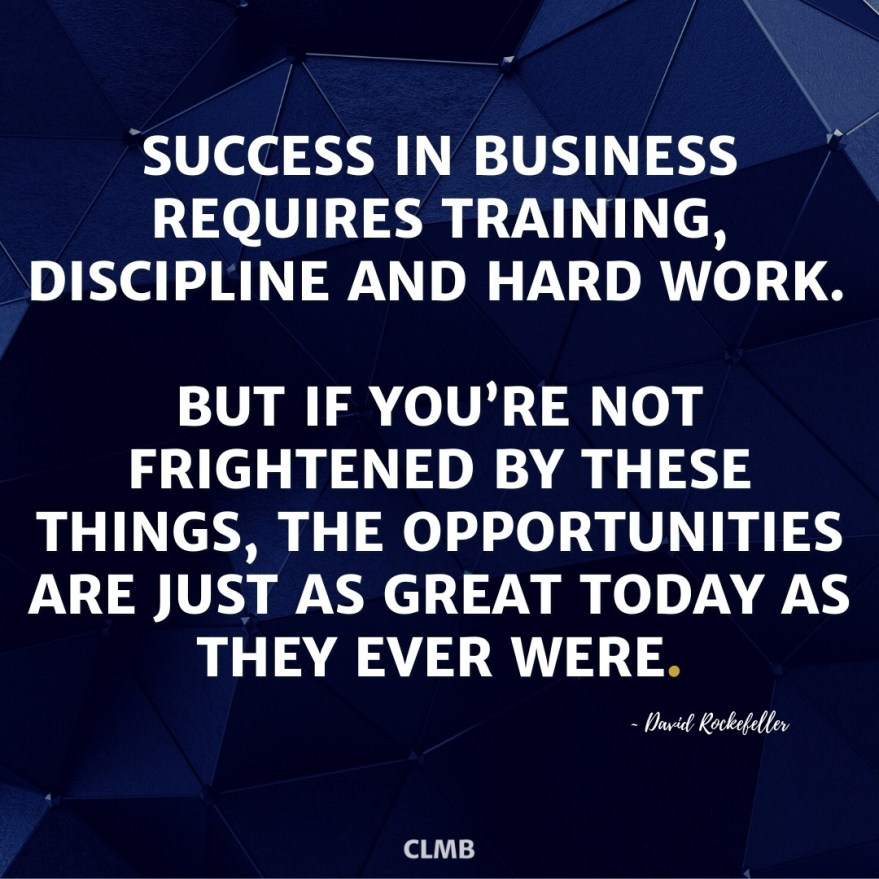 David Rockefeller Success in Business Quote