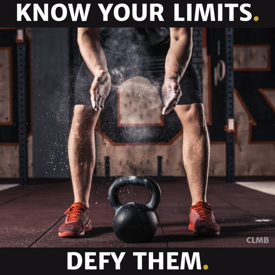 Know Your Limits Defy Them Motivational Quote