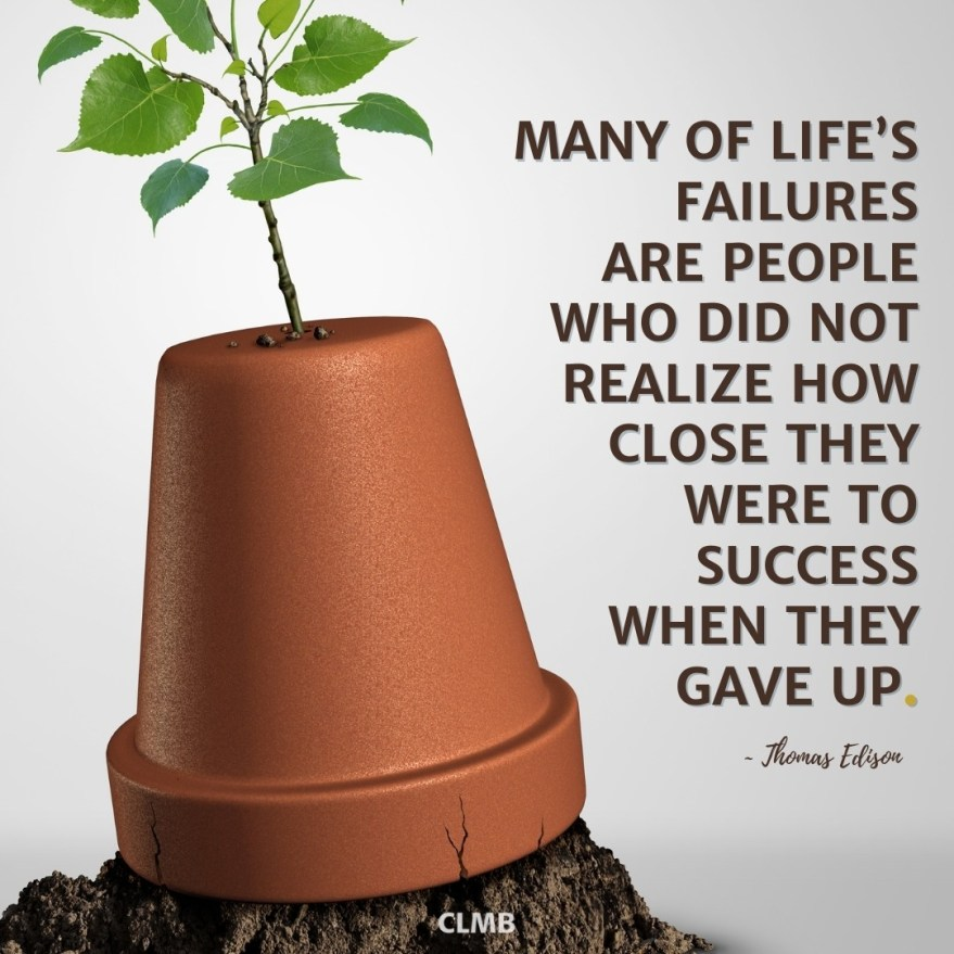 Thomas Edison Close to Success Motivational Quote