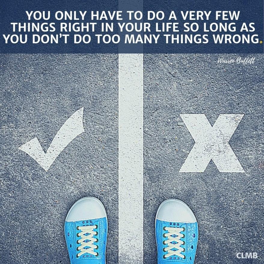 Warren Buffett Few Things Right Motivational Quote