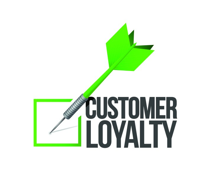 Image abstractly shows that when customers love you they will be loyal.