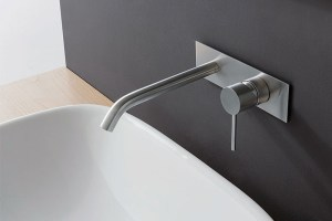 CONTI+ Fasson 40 UP Single Lever Wall Mixer & Cover | Cloakroom Solutions