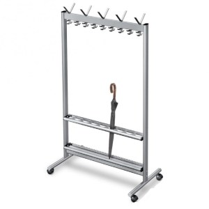 RG70x28 Mobile Coat Rack | Cloakroom Solutions