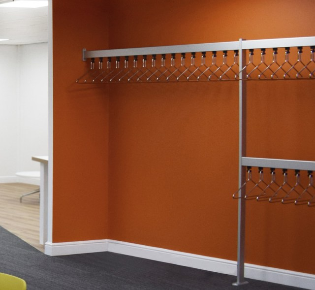 R8114 70x28 Wardrobe Rails Available Cloakroom Solutions
