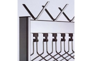 RG70x28 Mobile Coat Rack Hangers | Cloakroom Solutions