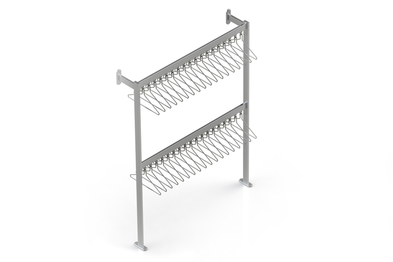 FS70x28.7 Floor to Wall Mounted Coat Rail | Cloakroom Solutions