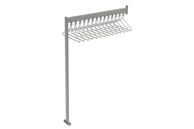 FS70x28.9 Floor to Wall Mounted Coat Rail   Cloakroom Solutions
