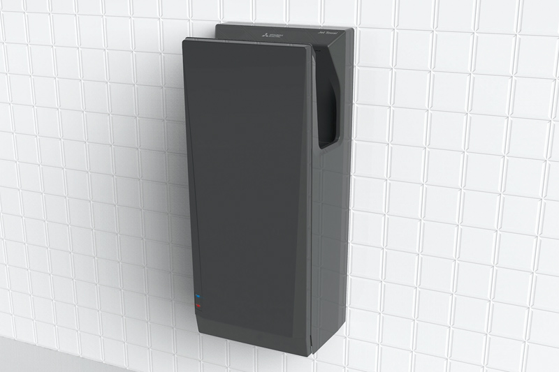 Mitsubishi Jet Towel Slim in Black | Cloakroom Solutions