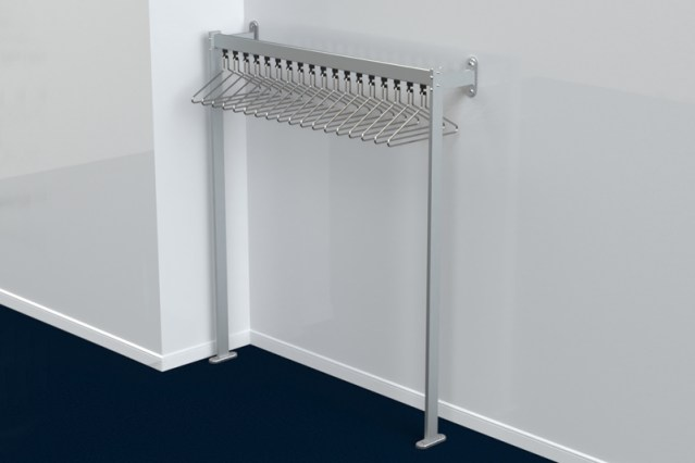 FS70x28.3 Floor to Wall Coat Rail | Cloakroom Solutions