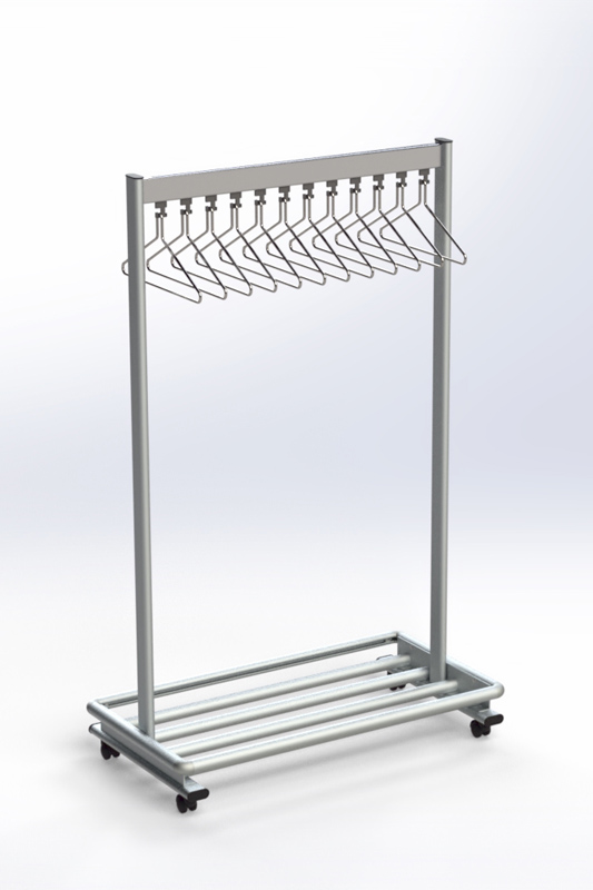 RG70LR-30 Mobile Coat Rack | Cloakroom Solutions