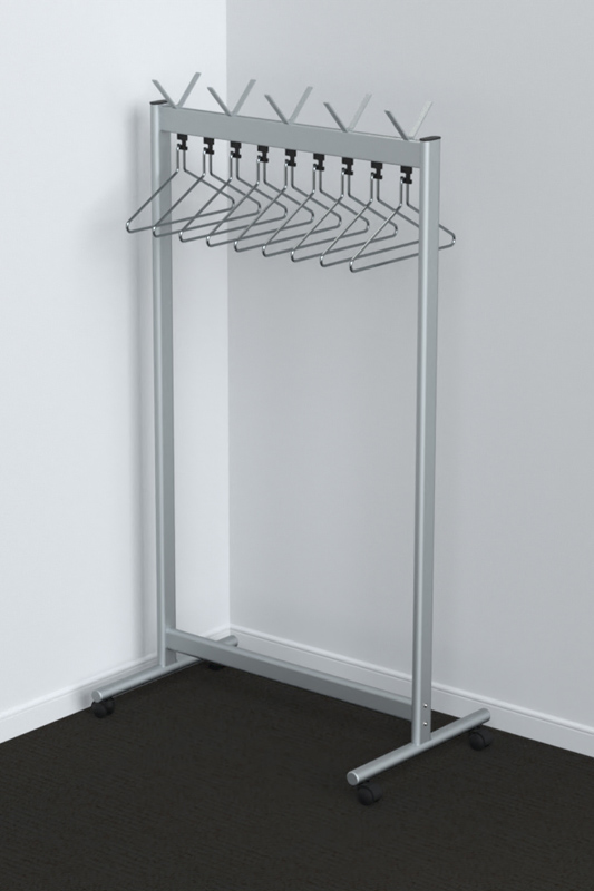 RG70x28-3 Mobile Coat Rack | Cloakroom Solutions