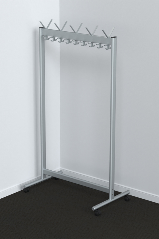 RG70x28-2 Mobile Coat Rack | Cloakroom Solutions