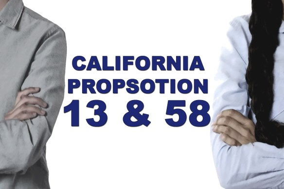 California Proposition 58 and Proposition 13