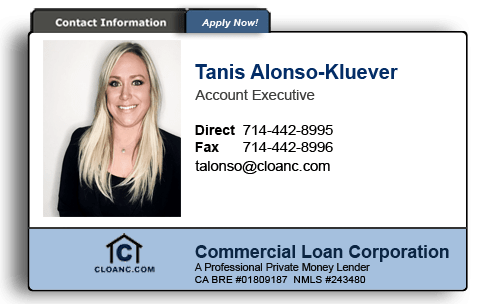 Tanis Alonso - Kluever - Account Executive for Commercial Loan Corporation
