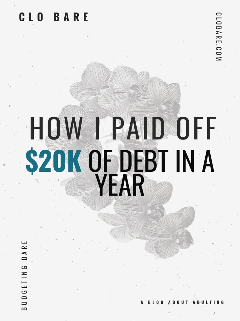 How I paid off $20k of Debt in a Year